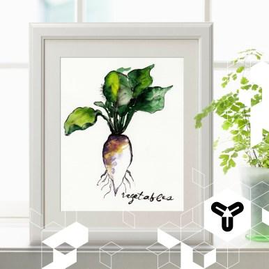 """Liebevoll gestaltete Arbeiten rundum Natur und Mode gehören zum Repertoire von """"Nathys Grapefruit Illustration"""". Unser Favorit ist dieses schöne und detaillierte Aquarell - das perfekte Kunstwerk für die Küche! Hier erhältlich: http://de.dawanda.com/shop/Nathalie-Koeslin und außerdem im April auf unserer DesignMesse! :) www.nathalie-koeslin.de"""