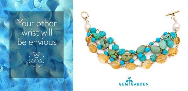 Digital marketing campaign for online jewelry retailer Gem Garden, featuring Jes MaHarry