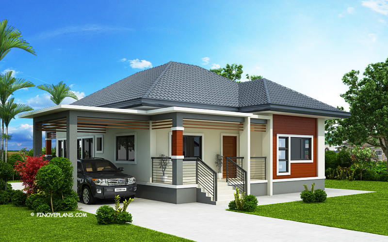 Simple And Elegant Small House Design With 3 Bedrooms And