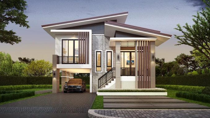 Modern Three Bedroom Two Story House With 2 Car Garage