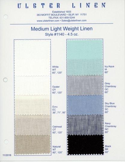 Y1140 Medium Weight Linen Fabric