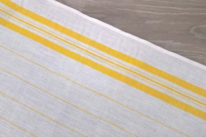 Yellow Pinstripe Toweling