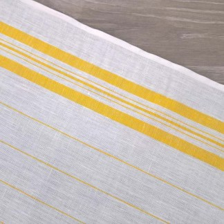 Yellow Pinstripe Toweling