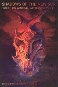 Cover of Peter Wright (ed), Shadows of the New Sun. Painting is Nordius by Bruce Pennington