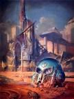 Cover of Peter Wright (ed), Attending Daedalus, Liverpool University Press. Painting is Deserted_Estuary by Bruce Pennington (C) Bruce Pennington