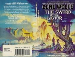Cover for Gene Wolfe, The Sword of the Lictor (paperback v), (c) Bruce Pennington, www.brucepennington.co.uk