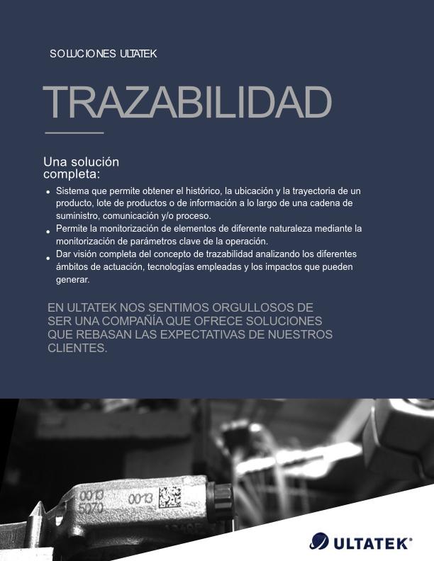 Soluciones en Trazabilidad - Ultatek México