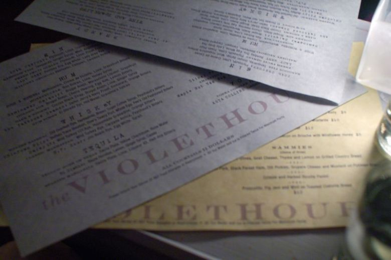Violet Hour Menus