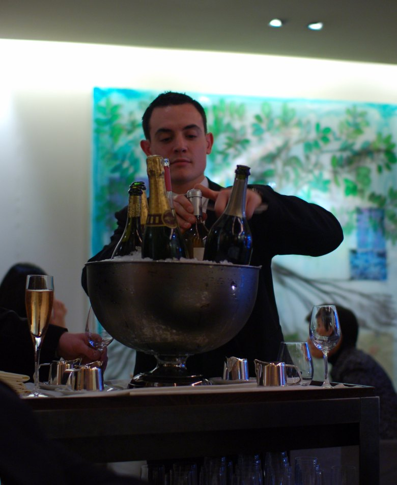 Guy Savoy Champagne Service