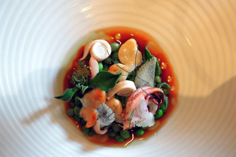 1st Course: Vegetables in Calamari Broth