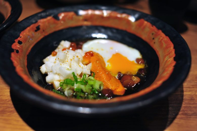 Poached Egg with Sea Urchin