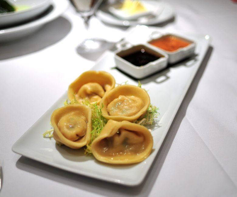 Appetizer: Steamed Shrimp & Chile Purses