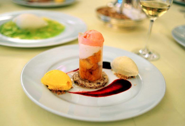 Dessert: Organic Frog Hollow Peaches