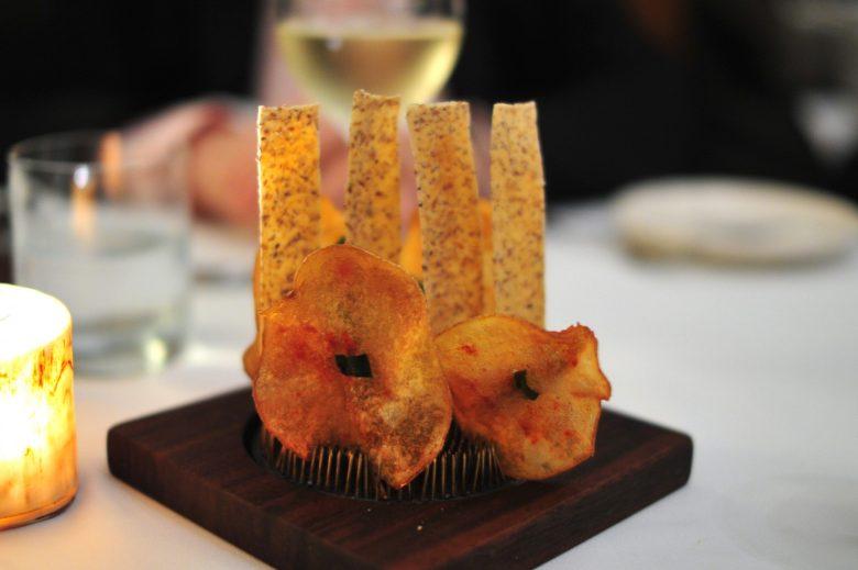 Chef's Amuse: Potato Chip and Tuile
