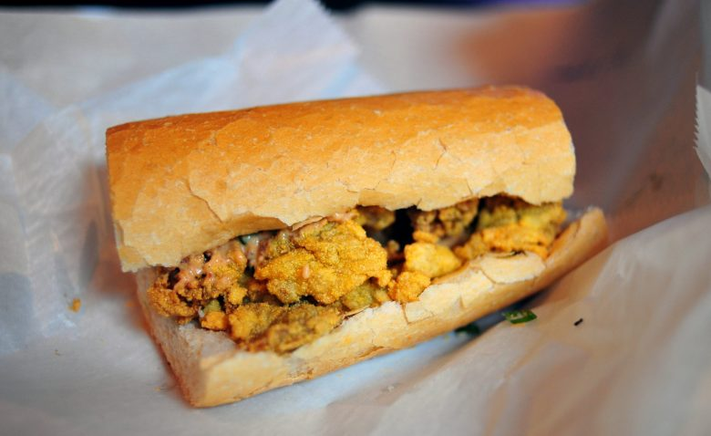 Oyster and Remoulade Po'Boy