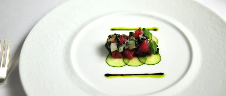 2nd Course: Tartare of Yellowfin Tuna and Diver Scallops