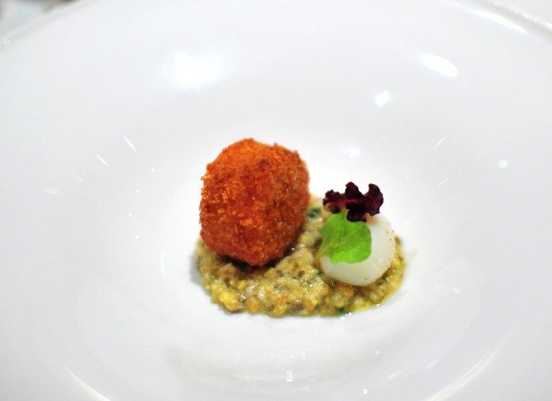 """Chef's 5th Course: Salmon Creek Farms """"Tete de Cochon"""""""