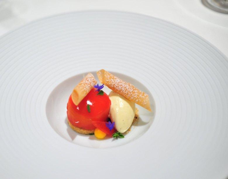 """Chef's 10th Course: """"Peaches and Cream"""""""