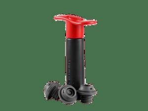 Pompe à vin + 3 bouchons rouge – Le Creuset