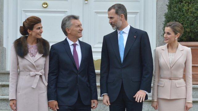Resultado de imagen para Macri y el Rey en la zarzuela