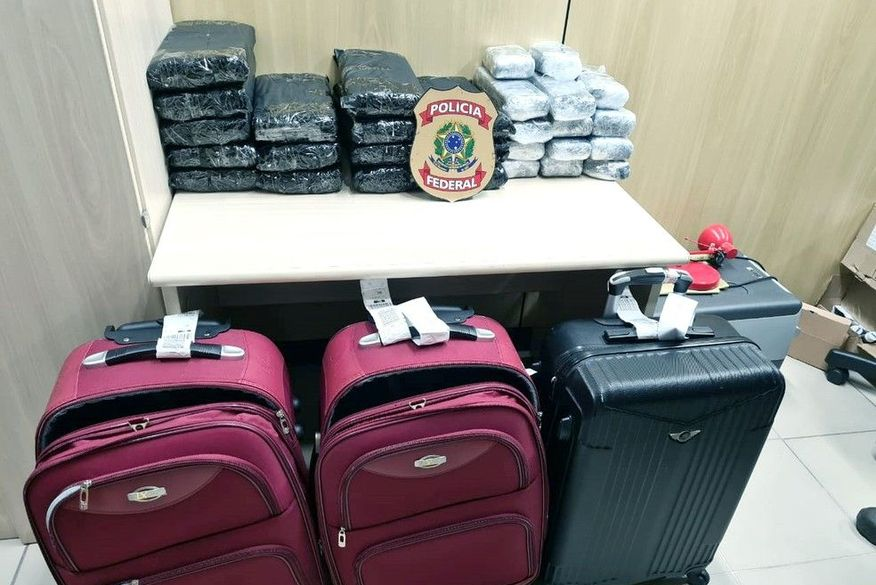 Dois paraibanos são presos no Aeroporto de Natal por integrar grupo que tentava transportar 47 kg de maconha na bagagem