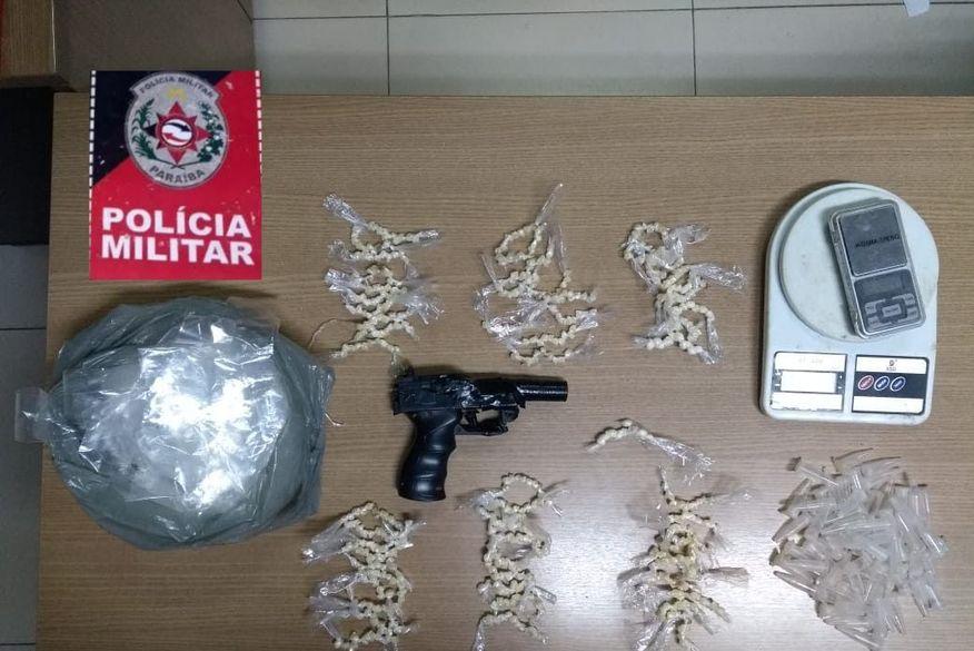 Polícia Militar prende suspeitos de tráfico de drogas em Santa Rita