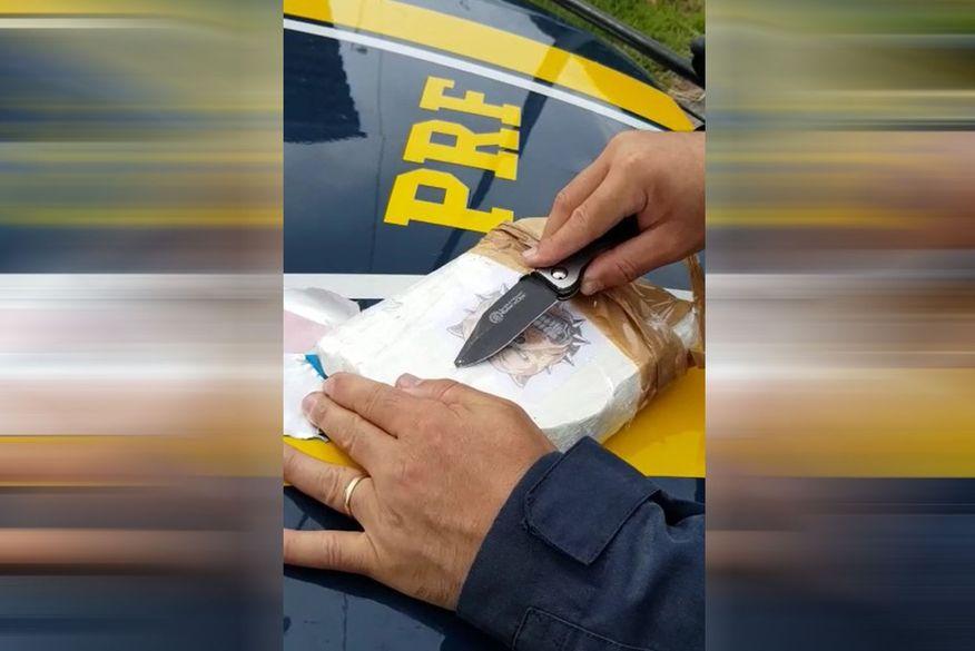 PRF prende casal em Mamanguape que transportava 1kg de cocaína escondida junto ao corpo da mulher