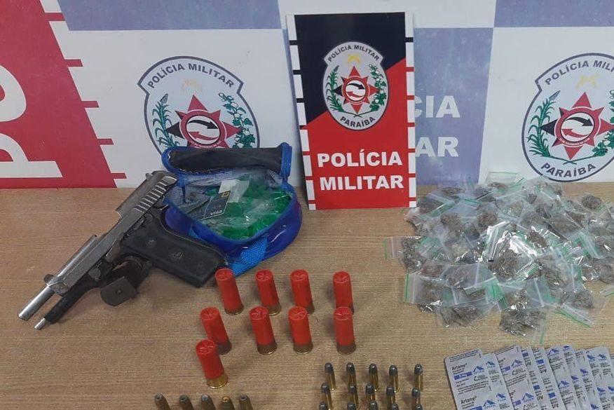 Homem é preso com arma, munições e drogas no 'Condomínio da Amizade'