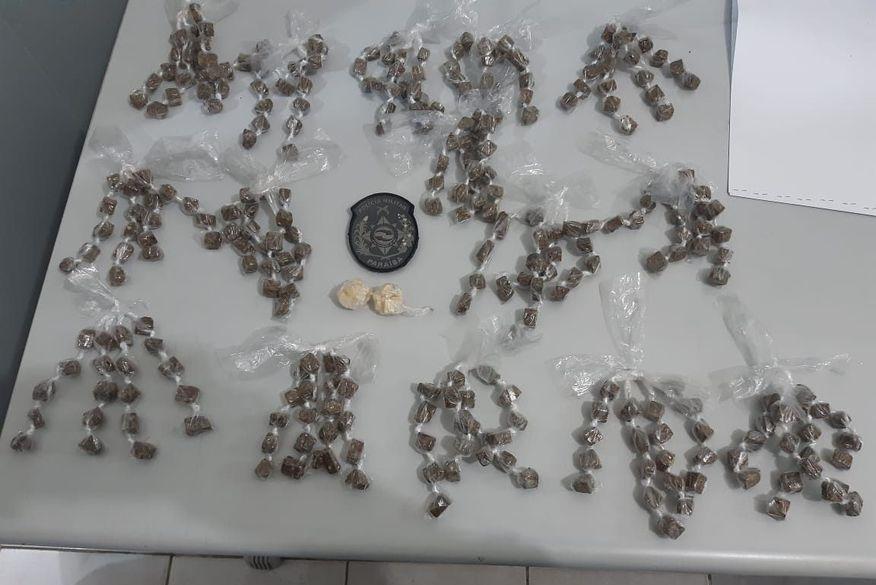 Homem é preso com mais de 300 trouxinhas de maconha em Santa Rita