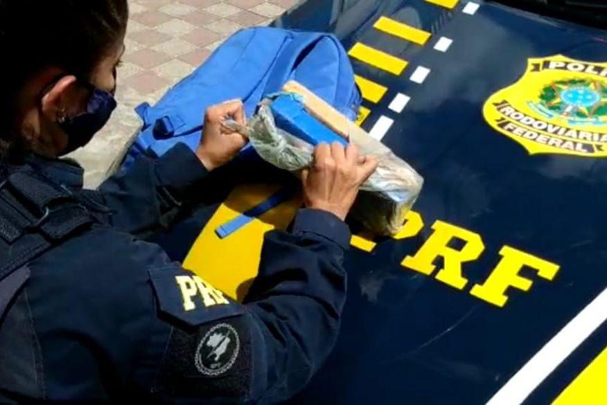 Polícia Rodoviária Federal prende suspeito com maconha após tentativa de fuga na Paraíba