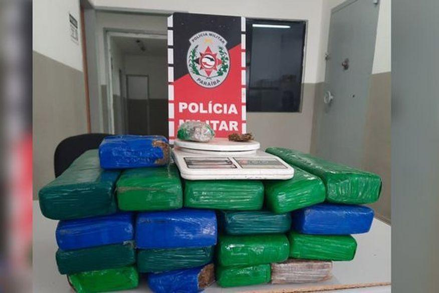 Suspeito de tráfico de drogas é preso com 19 quilos de maconha na Paraíba