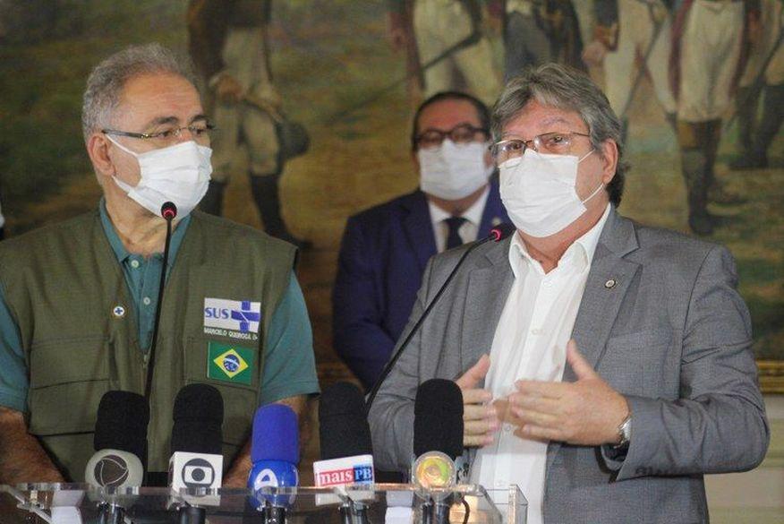 João Azevêdo se reúne com Marcelo Queiroga neste sábado em João Pessoa
