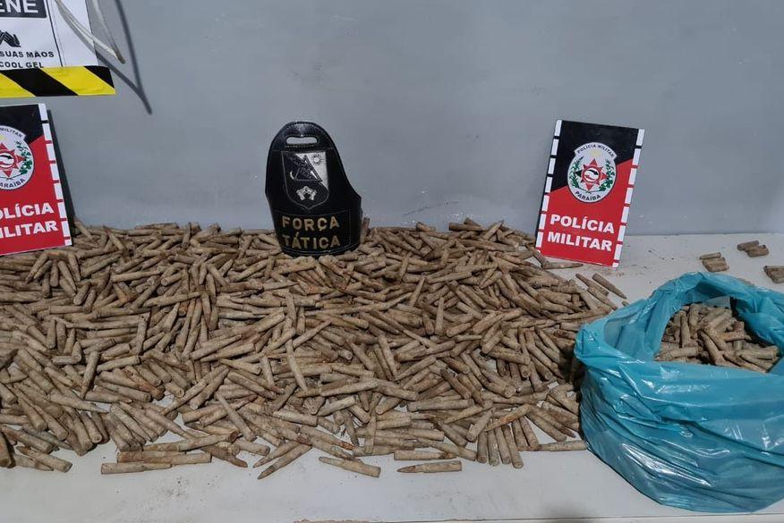 Polícia apreende cerca de 1,5 mil munições que estavam enterradas em São Miguel de Taipu