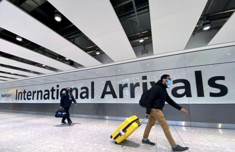 Viajantes do Brasil vacinados poderão entrar no Reino Unido sem necessidade de quarentena