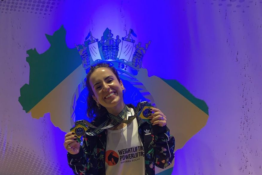 Paraibana Mayara Rocha é campeã brasileira de Powerlifting na categoria 'Novos'
