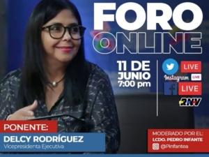 Delcy Rodríguez: El covid-19 develó la verdadera crisis de EEUU