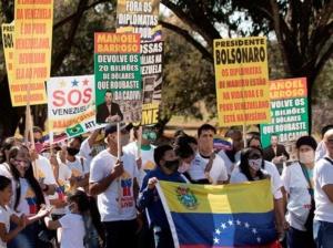 Trataron de interrumpir actos patrios en Brasil