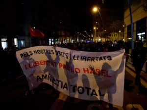 Manifestantes españoles reclamaron libertad para Pablo Hasél