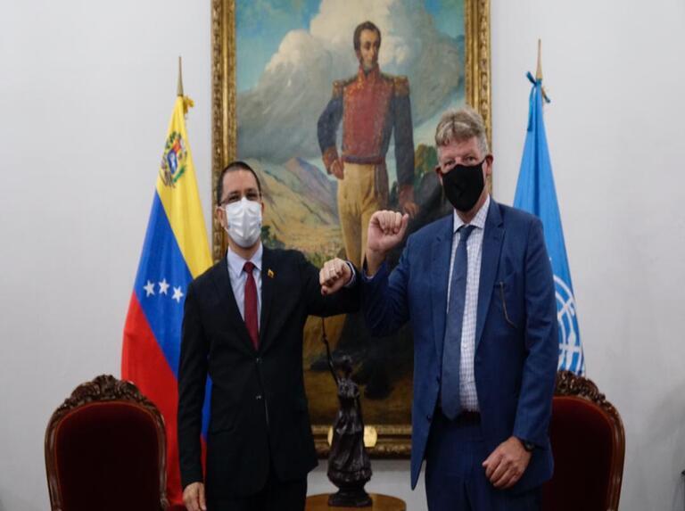 Canciller Arreaza revisa planes de cooperación humanitaria con PNUD | Últimas Noticias