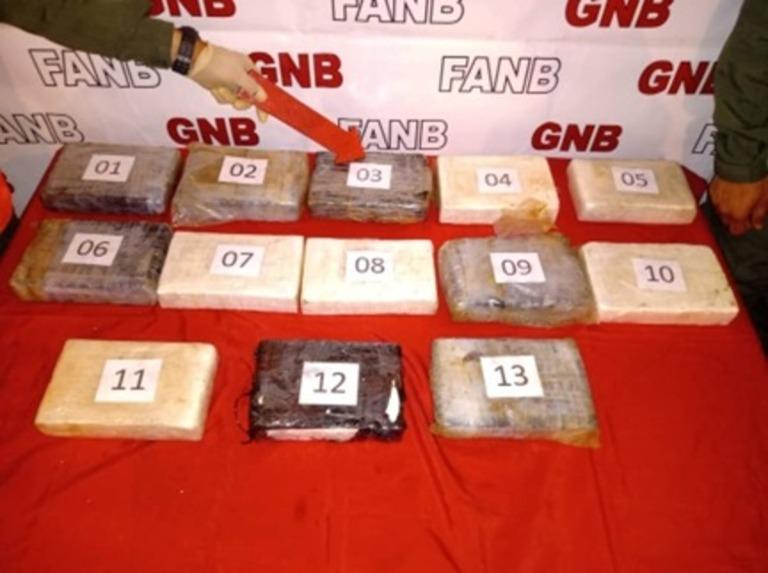 Detuvieron a cuatro con 13 panelas de cocaína y una subametralladora