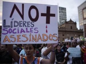 Colombia registra 50 asesinatos a líderes sociales en lo que va de 2021