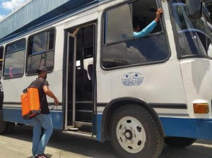 Transport units are disinfected daily in Maracay