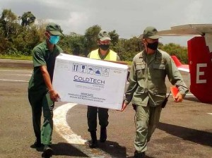 Chinese Sinopharm vaccines arrive at Delta Amacuro