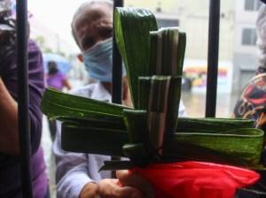 Caraqueños mostraron su fe en Domingo de Ramos, pese a la cuarentena