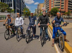 Promueven la movilidad en bicicleta en toda Caracas