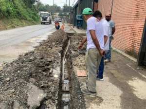 They replace more than 18 meters of white water pipeline in Carrizal