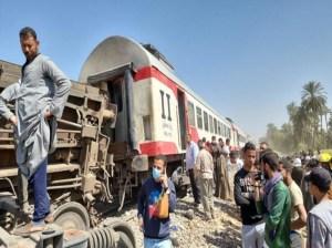 Accidente ferroviario en Egipto cobra al menos 100 heridos