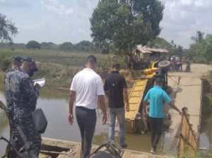 Bridge fell in the production area of ​​the Sosa municipality in Barinas