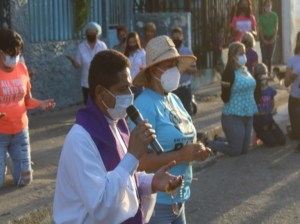 Aragüeños prayed for the end of the pandemic