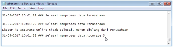 File Notepad Tentang Proses Migrasi Database
